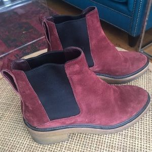 Dries Van Noten Boudreaux, Suede Chelsea Booties